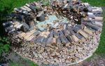 Поленница для дров: как сделать своими руками, фото и видео