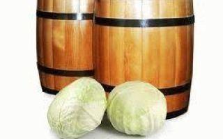 Как засолить капусту в бочке