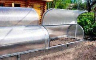 Парники из металлических дуг с укрывным материалом