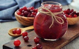 Варенье из клюквы на зиму: простой рецепт, без варки, пятиминутка, из замороженной ягоды