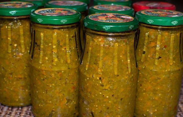 Икра из зеленых помидоров: как приготовить с перцем, кабачками, без уксуса