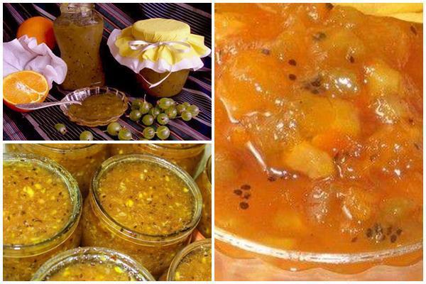 Джем из крыжовника: рецепты с апельсином и лимоном