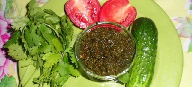 Рецепты зеленой аджики на зиму