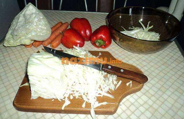 Квашенная капуста с болгарским перцем