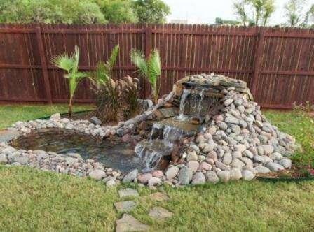 Водопад своими руками на даче + фото
