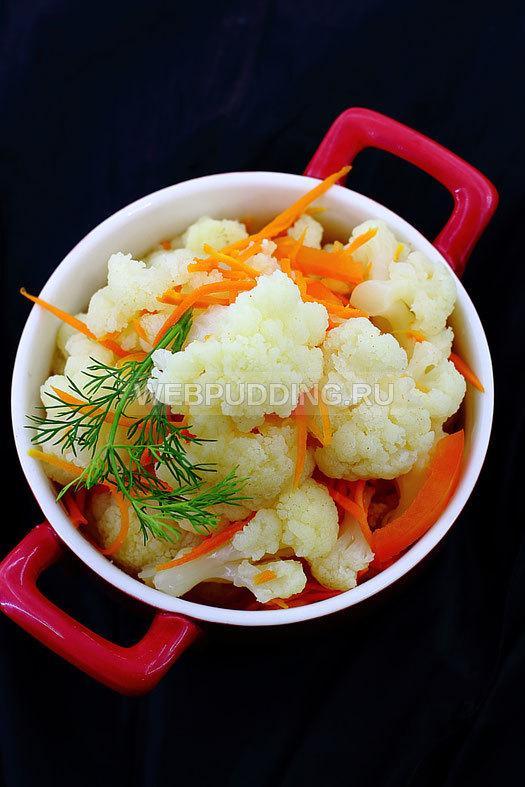 Цветная капуста маринованная быстрого приготовления: рецепт с фото