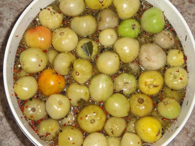 Квашеные зеленые помидоры: с чесноком, зеленью, сельдереем, перцем