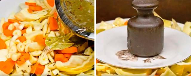 Капуста кусочками маринованная быстрого приготовления: рецепт с уксусом, без закатки
