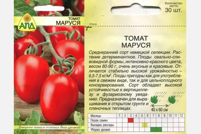 Томат Маруся: характеристика и описание сорта