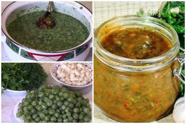 Ткемали из крыжовника: рецепты соуса на зиму