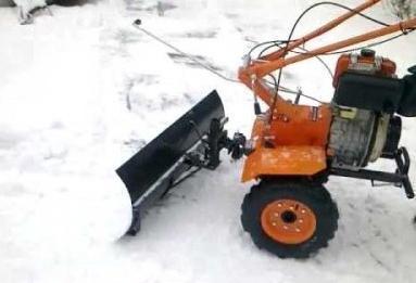 Скребок для уборки снега + чертеж