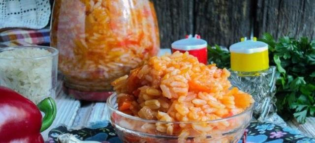 Лечо с рисом на зиму: рецепты с фото
