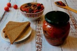 Лечо из баклажанов на зиму: рецепты с помидорами и сладким перцем, видео