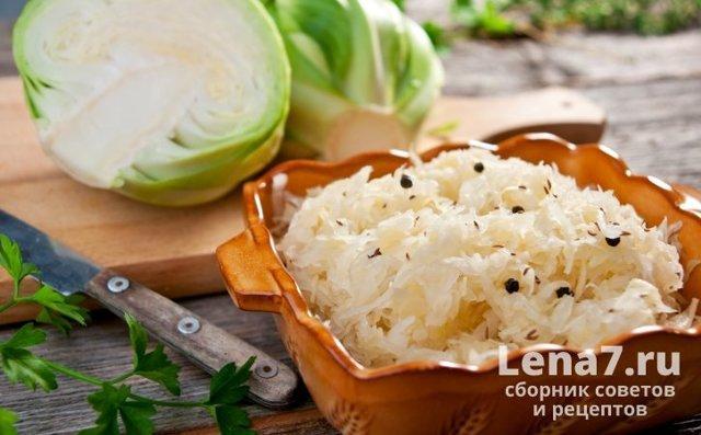 Хранение квашеной капусты
