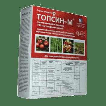 Фунгицид Топсин-М: инструкция по применению, отзывы
