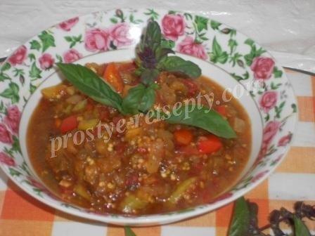 Баклажанная икра с помидорами: вкусный рецепт
