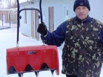Лопата со шнеком для уборки снега