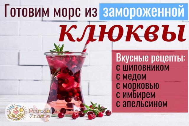 Клюквенный морс: рецепт из замороженных ягод