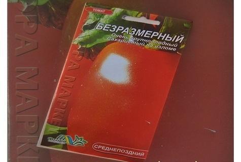 Томат Безразмерный: характеристика и описание сорта
