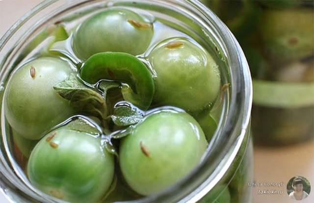 Квашеные зеленые помидоры фаршированные: рецепт с уксусом и без